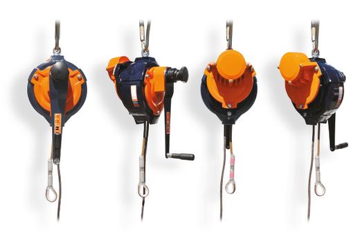 Automatisch afdaal en hijstoestel-personen MOD450 zijden