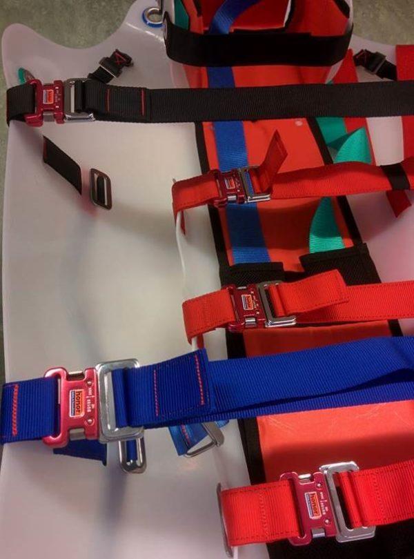SLIX wervelplank reddingsactie-Kleurgecodeerde romp heupfixatiebanden Reddingsbrancard