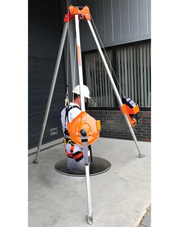 Driepoot-mangat-ankerpunt-valbeveiliging-Driepoot wit