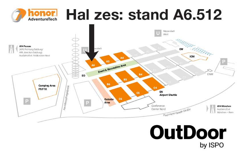Floorplan-Hal6-ISPO-Munich-2019-HONOR-AdventureTech