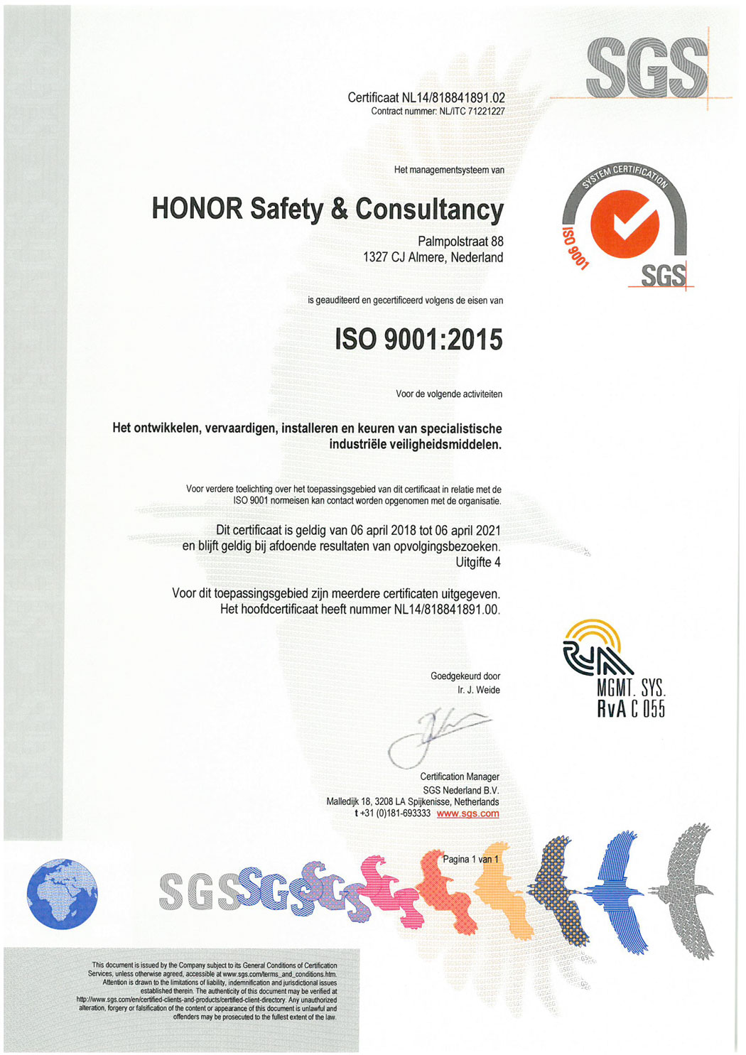 ISO-9001-2015-certificaat-HONOR-Safety-&-Consultancy