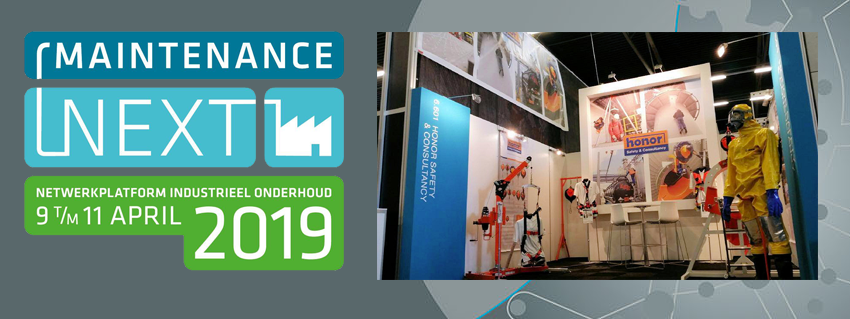 HONOR exposant op Maintenance NEXT - 9 -10 en 11 april 2019 AHOY Rotterdam